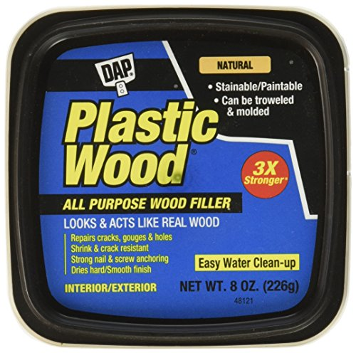DAP 8135 Plastic Wood Latex Natural Hp Raw Building Material, 8 oz