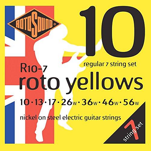 Rotosound nikkelsnaren voor 7-snarige elektrische gitaren Regular 10 13 17 26 36 46 56