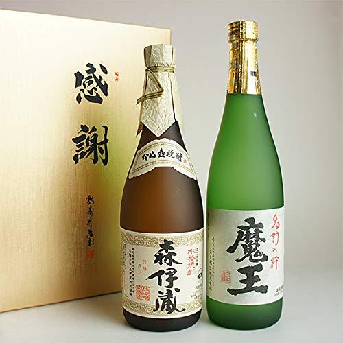 森伊蔵・魔王 芋焼酎 四合瓶 720ml 2本セット 感謝の贈答紙箱入り ギフト包装無料