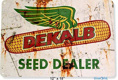TIN Sign Dekalb Seed Dekalb Metal Sign Garden Kitchen Farm Cottage Shop Store A905 Iron Painting 16x12 inch
