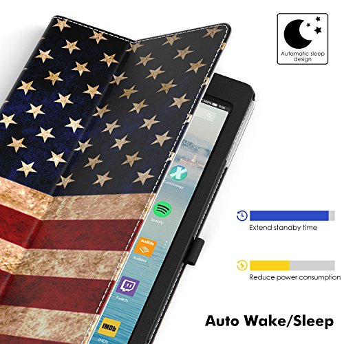 TiMOVO Folio Case for All-New Fire HD 10 Tablet (9th Generation, 2019 Release and 7th Generation, 2017 Release) - Slim Folding PU Leather Stand Cover Case for Amazon Fire HD 10 Tablet, US Flag