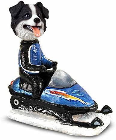 Border Collie Snowmobile Collectable Doogie Free shipping on posting reviews Quantity limited Figurine