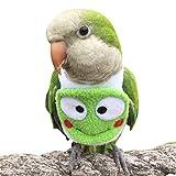 HEZHUO Traje de vuelo para pájaros, loros, ropa para pájaros, piloto, con forro impermeable, para mascotas, pájaros, guacamayos, cacatúas (M)