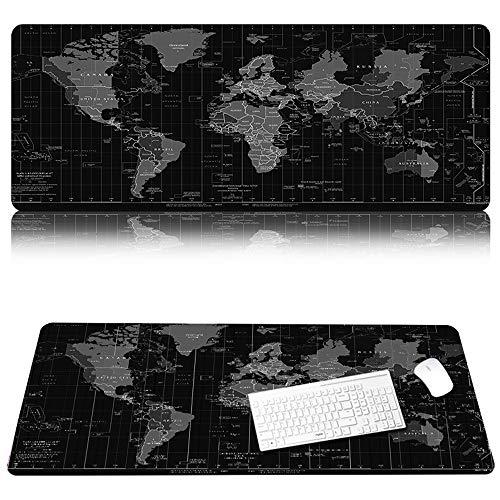 Grote gaming Mouse Pad/Mat Mouse Pad Grote grootte Comfortabele Mousepad Dikke Mousepad Keyboard Mat met Antislip Base, gestikte randen, Glad oppervlak voor Computer en Office Bureau, 300 × 600 × 2mm