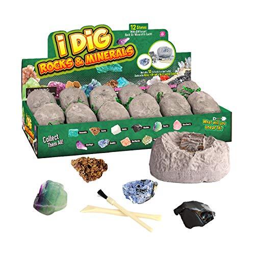jieGorge Juguete Educativo, Bricolaje Creativo para nios, Juego de Juguetes arqueolgicos de Piedra Natural en Bruto, Juguetes y Pasatiempos (como se Muestra)