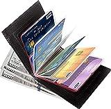 Wonder Wallet - Amazing Slim RFID Wallets As Seen on TV, Black Leather (3 Pack(Slim RFID), Black)