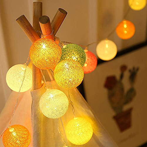 Colored Led Decorative String Lights, Multicolored Hang String Lights with 20 LED Battery Operated for Indoor Patio Home Garland, Garden Decorations