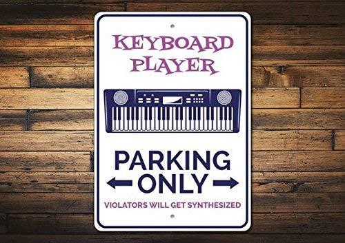 BDTS Nieuwe Toetsenbord Speler Gift Toetsenbord Parking Teken Muzikant Parking Teken Metalen Teken 8x12 inch