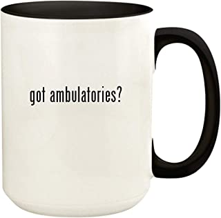 got ambulatories? - 15oz Ceramic Colored Handle and Inside Coffee Mug Cup, Black