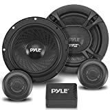 2-Way Car Stereo Speaker System - 360W 6.5 Inch Universal Pro Audio Car Speaker OEM Quick Replacement Component Speaker Vehicle Door/Side Panel Mount Compatible w/Crossover Network - Pyle PL6150BK