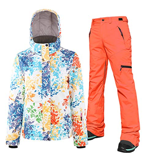 HSYD Dames Ski Suits, Ski-Jas en Broek, Set van 2, Snowboarding Coverall Outfit, Winddicht Waterdicht Ademend Sneeuwpak, Great Gear for Winter