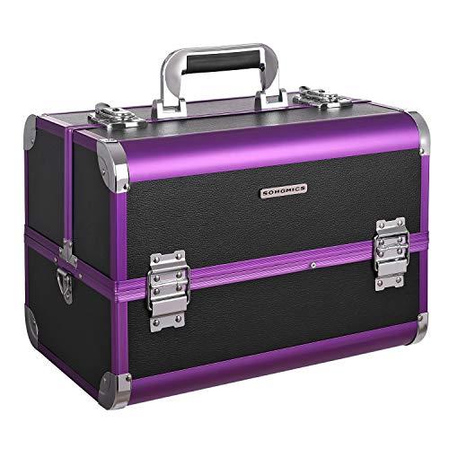 Songmics® Beauty Case con specchio organizzatore mini caso maniglia e tracolla JBC221B