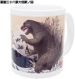 Folcart GODZILLA Thirty-six Views of Mount Fuji with Monster Mug Cup Ukiyo-e from Japan