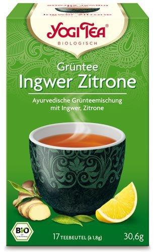 Yogi Tee, Grüntee, Ingwer Zitrone, 17 Teebeutel, 30,6g, BIO