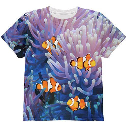 animalworld Clownfish Sea Anemone All Over Youth T Shirt Multi YSM