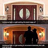 Elrigs E27 LED Lampe mit Bewegungsmelder und Dämmerungssensor, 7W ersetzt 60W, Reichweite, Zeit- und Dämmerungsschwelle einstellbar, Warmweiß (3000K) - 8