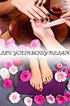 Global Printing Services Nail Salon Poster - Glossy Black Pink White Daisies Nails & Spa Salon Manicure Pedicure Poster || NSD-041 (36in x 54in, Poster (Polymatte))