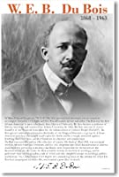 Web Dubois–Biography–新しい有名なAfrican American Civil Rights Leaderポスター
