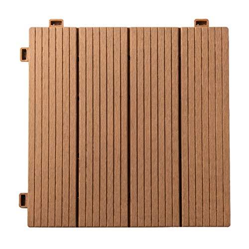 ウッドパネル 【タイプX】【30枚セット】1枚あたり239円! 人工木 樹脂 ベランダタイル ジョイントパネル 木製タイル (ウッディナチュラル)