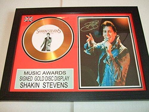 Signierte Goldscheibe von Shakin Stevens.