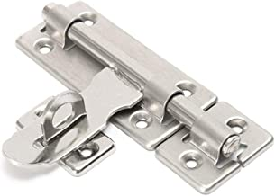 92 X 30 Mm (4 X 1.18in) Stainless Steel Hardware Deurvergrendeling, Bolt Klink Padlock Set.Geborsteld Roestvrij Staal, 1 S...