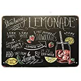 MAIYUAN Metall-Blechschild mit Erdbeer-Lemonade,