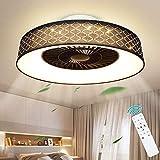 Ventilador de techo con iluminación LED Ventilador invisible con iluminación Modernos ventiladores de techo con luces de ventilador de techo LED ligeras con control remoto 40W Luces de techo regulable