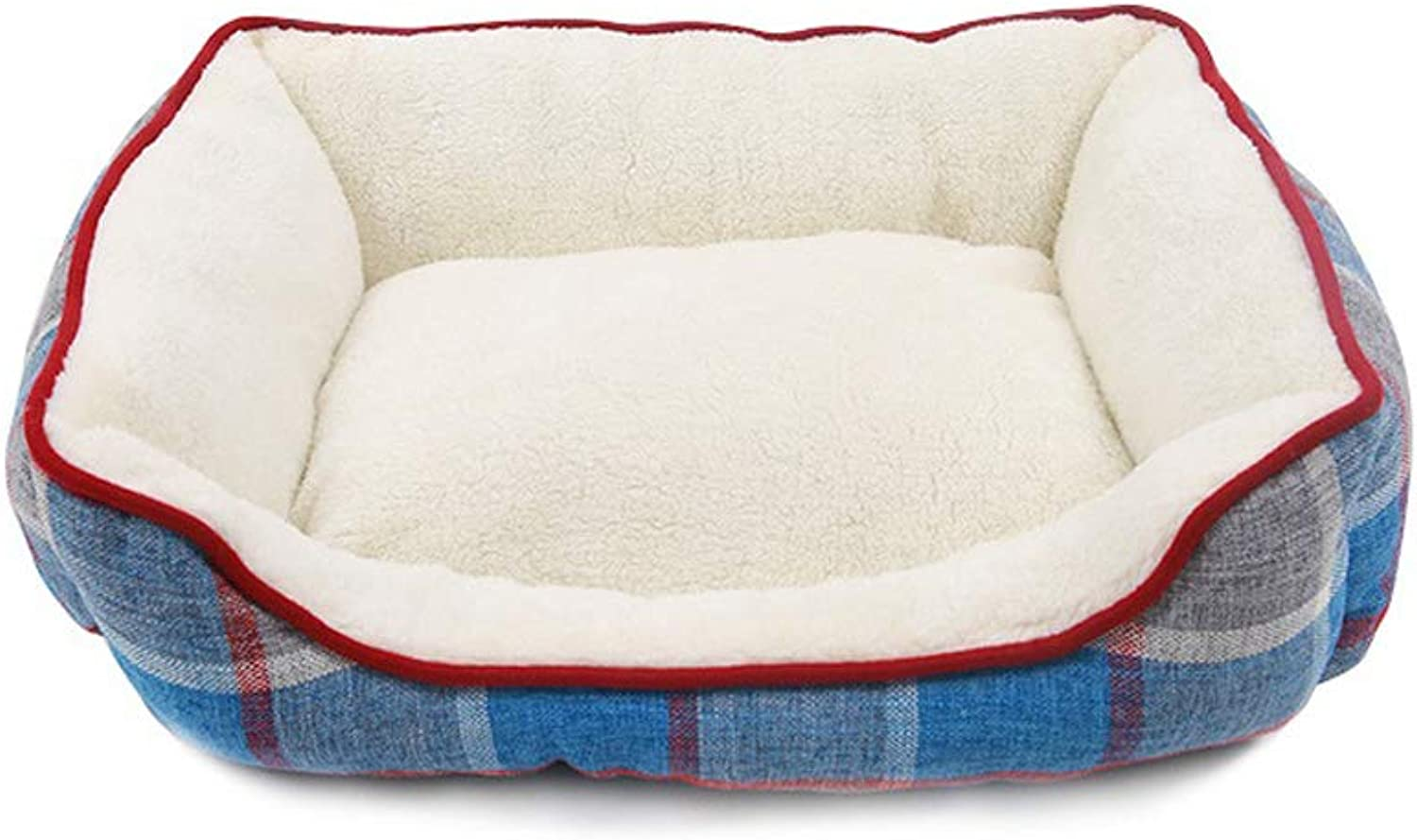 Kennel Pet Puppy Bed Sleeping Pad, Super Soft Padded Warm Cat Cat Comfort Pad, Small Or Medium Pet Supplies (Size   L 65  55  20cm)