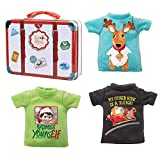 The Elf on the Shelf Clothing Set - 3 Tshirt Value Pack and Carrying Case - Three Stylish Tees for Boy Elf or Girl Elf
