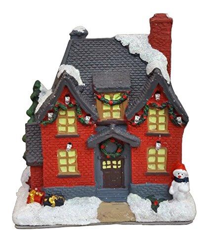 Lichthaus Leuchthaus LED beleuchtet Weihnachts Winter Deko Haus Dorf Kirche