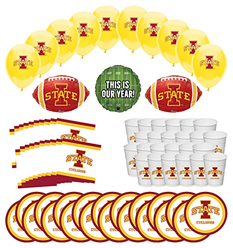 Purchase Mayflower Products Iowa State University Cyclones Football Tailgating Party Supplies for 20...