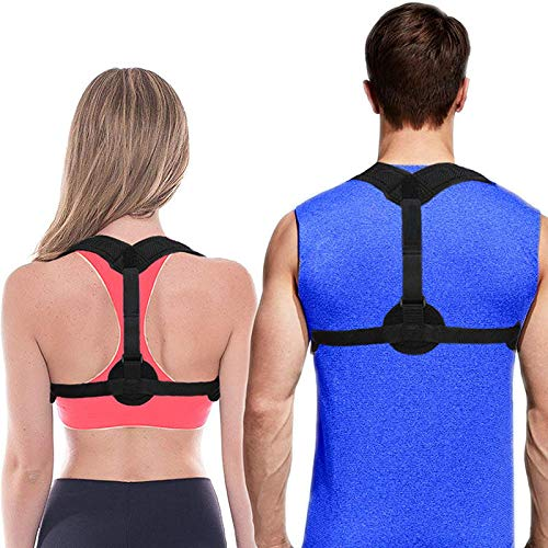 Back Posture Corrector for Women & Men - with Instruction Guide and Home Exercises- Effective and Comfortable Posture Brace for Slouching & Hunching - Discreet Design - Clavicle Support (Universal)