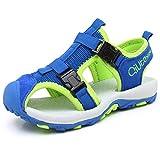 JIANKE Sandalias para niño Deportivas Zapatillas Trekking Zapatos de Playa Azul 28 EU