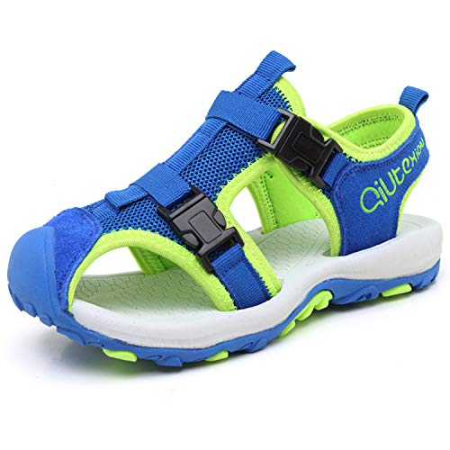 JIANKE Sandalias para niño Deportivas Zapatillas Trekking Zapatos de Playa Azul 29 EU
