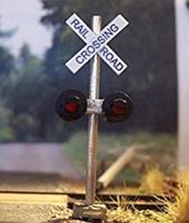 Osborn Models N Scale CROSSING SIGNAL (Non-operating) With Crossbuck Sign Set of 1 EZ Assembly NEW Kit RRA3004