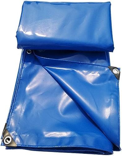 TOASD Couverture imperméable enduite composée de Toile de Polyester de Haute résistance de bache de Polyester + PVC pour l'auvent de bache, Le Camping, Le RV ou Les Articles de réparation de Toit