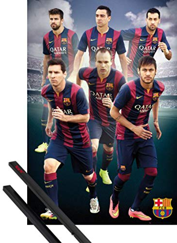 1art1 Fútbol Póster (91x61 cm) Barcelona, Players 14/15 Y 1 Lote De...