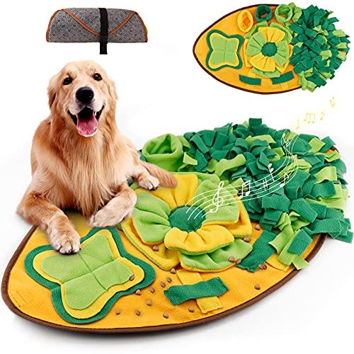 Amzeeniu Dog Sniffing Mat Tappetino Cani Snuffle Mat Giocattoli di Puzzle del Cane per Cani Gatti Pieghevole Portatile Cani Tappetini Puzzle per Addestramento Cani Lavabile per Giochi Interattivi