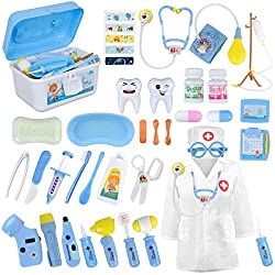 commercial LOYO Medical Kit for Kids-Physician Roleplay Equipment, 35 Items, Kids Dentures, Doctors … doctor play set