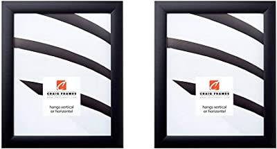 0.765-Inch Wide Smooth Finish Black Craig Frames fw2bk 12 by 18-Inch Picture Frame