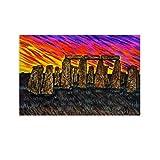 pidai Stonehenge Shadows Kunst-Poster auf Leinwand,