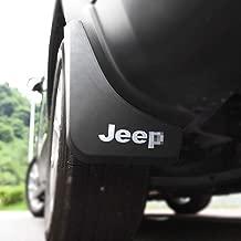 Nayilin Car Mudguard Fit for Jeep Cherokee Splash Fender Flares,Made of Plastic Material 4pcs Mud Flaps Pretector Fit for Jeep Cherokee 2015 2016 2017 2018(with White Logo)