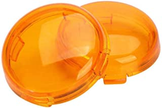 Ugthe 2Pcs/Set Replacement Motorcycle Parts Turn Light Signal Lamp Cover for Halley - Yellow