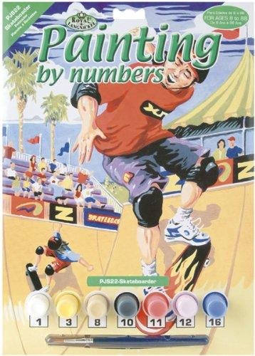 Royal & Langnickel PJS22 Peinture d'après les chiffres Taille A4 Skateboarder