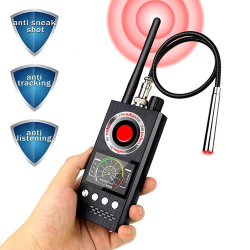 Anti-Spy Wireless RF Signal Detector [Latest Professional Version] Bug GPS Camera Signal Detector,Detection GPS Tracker Hidden Camera Eavesdropping Device Signal Detector
