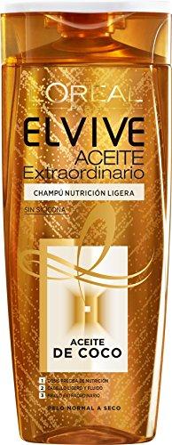 L Oreal Paris Elvive Champú sin Siliconas Aceite de Coco, 370 ml