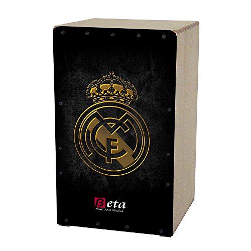 Cajón flamenco Beta mod. 'Real Madrid' - Caja de percusión personalizada 100% abedul