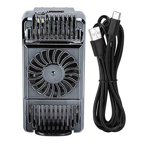 Soporte de refrigeración para teléfono, disipador de calor semiconductor, soporte de refrigeración para teléfono móvil, disipación de calor científica y fuerte (gris)