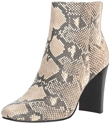Dolce Vita Women's NILANI Ankle Boot, Snake Print Embossed Leather, 6 M US