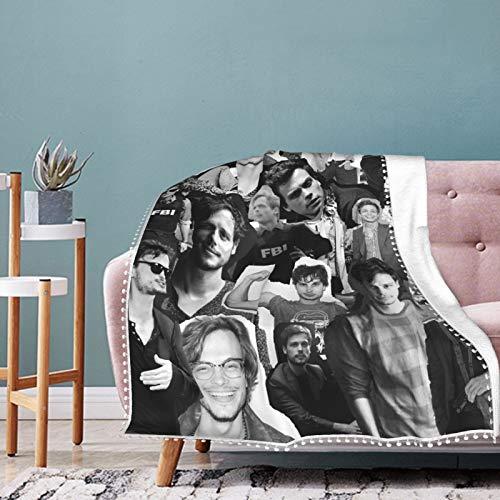 EAROBA Pompom Fringe Blanket Fashion Matth-Ew Gray Gu-Bler Warm Plush Cozy Soft Blankets for Chair/Bed/Couch/Sofa Throw for Adults Children 80'X60'